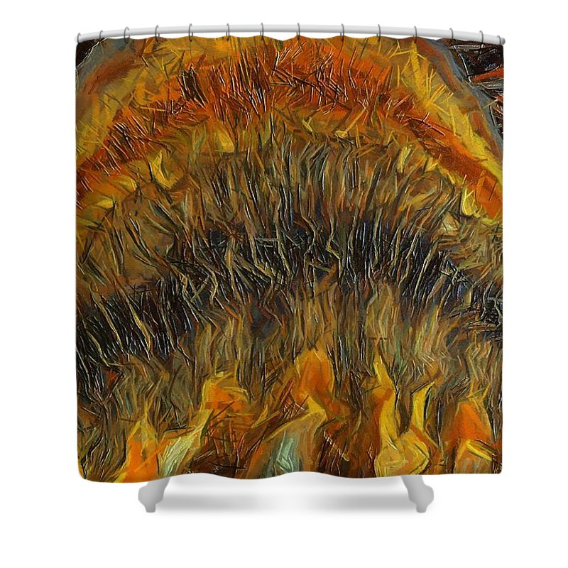 Still Life Shower Curtain featuring the painting 0127 by I J T Son Of Jesus