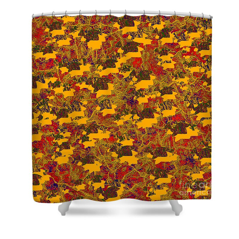 Abstract Shower Curtain featuring the digital art 0167 Abstract Thought by Chowdary V Arikatla