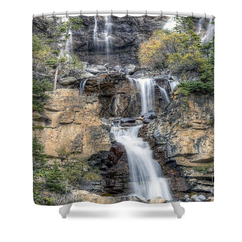 Tangle Shower Curtain featuring the photograph 0194 Tangle Creek Falls 9 by Steve Sturgill