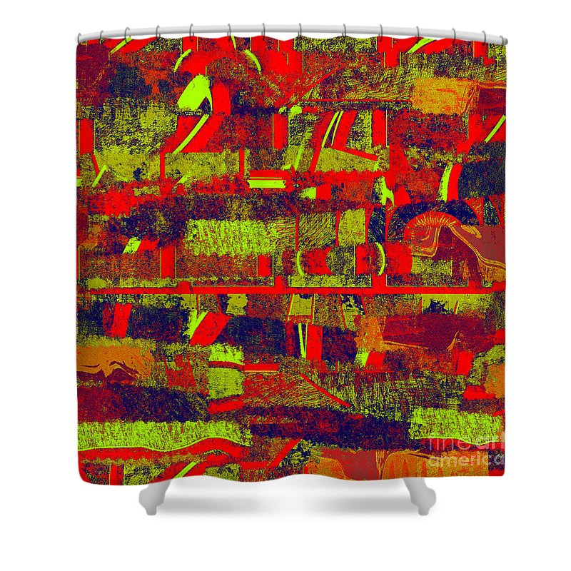 Abstract Shower Curtain featuring the digital art 0480 Abstract Thought by Chowdary V Arikatla