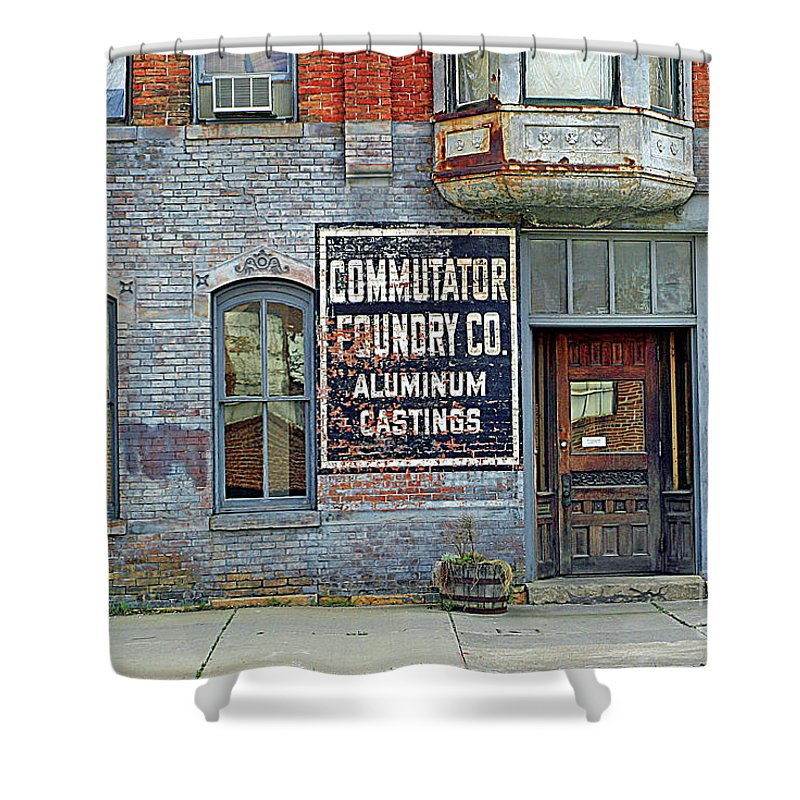 Urban Shower Curtain featuring the photograph 0605 Old Foundry Building by Steve Sturgill