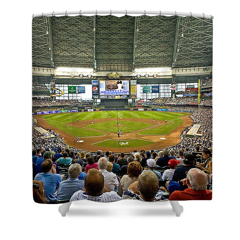 Milwaukee Shower Curtain featuring the photograph 0619 Milwaukee's Miller Park by Steve Sturgill