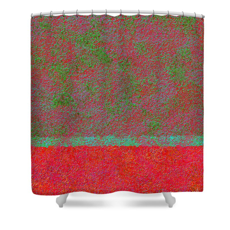 Abstract Shower Curtain featuring the digital art 0764 Abstract Thought by Chowdary V Arikatla
