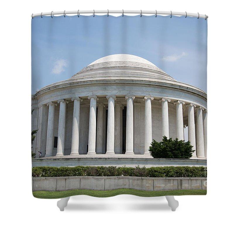 Thomas Jefferson Memorial Shower Curtain featuring the digital art Thomas Jefferson Memorial by Carol Ailles