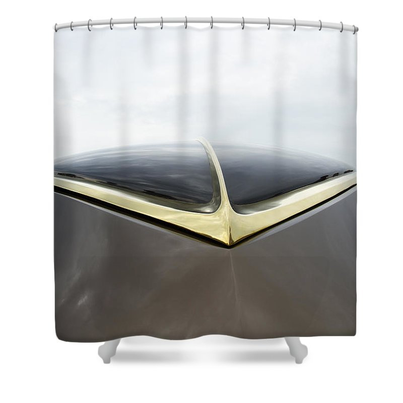 Antique Shower Curtain featuring the photograph 1937 47 Rolls Royce by Jack R Perry