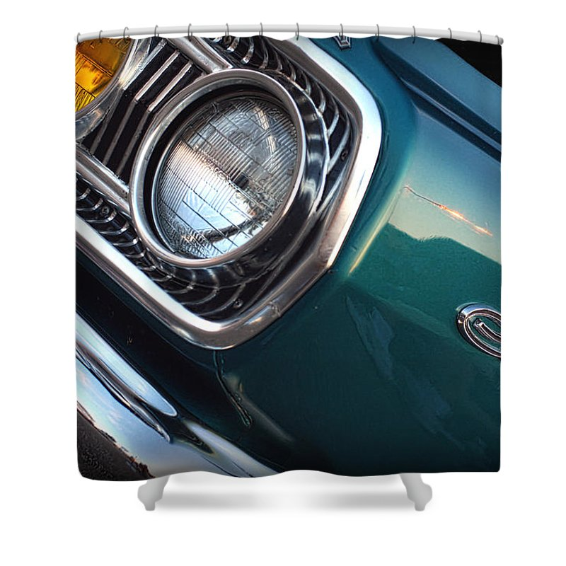 1966 Shower Curtain featuring the photograph 1965 Dodge Coronet by Gordon Dean II