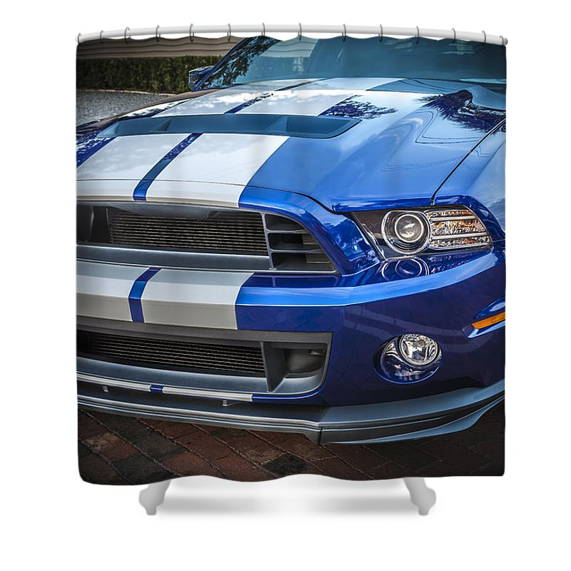 2013 Ford Mustang Shower Curtain featuring the photograph 2013 Ford Mustang Shelby Gt 500 by Rich Franco