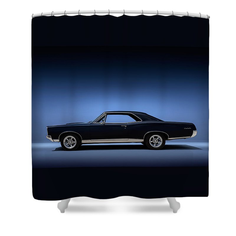 Transportation Shower Curtain featuring the digital art 67 Gto by Douglas Pittman