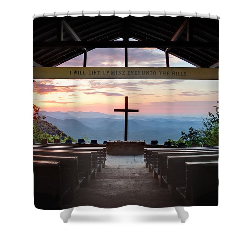 Panorama Shower Curtain featuring the photograph A Good Morning At Pretty Place by Rob Travis