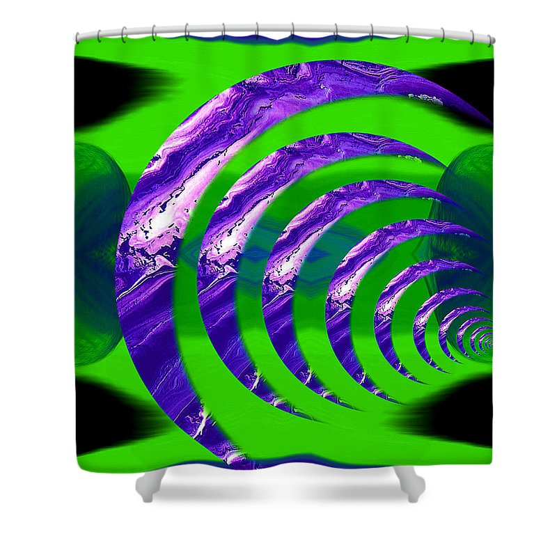 Original Shower Curtain featuring the painting Abstract 123 by J D Owen