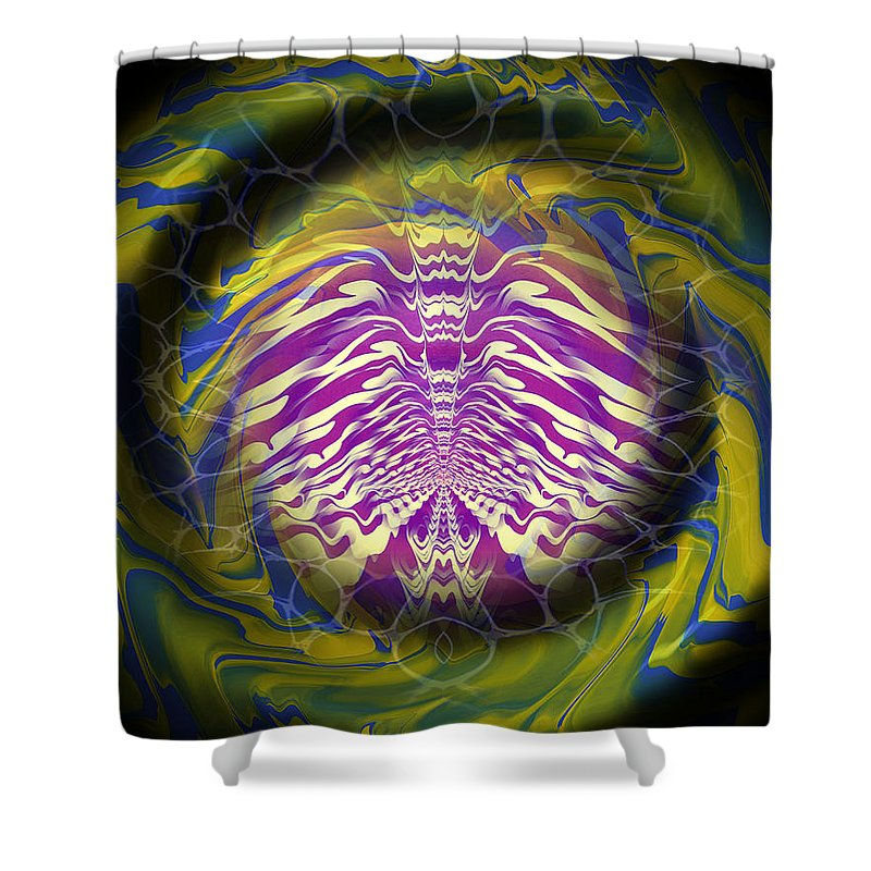 Original Shower Curtain featuring the painting Abstract 141 by J D Owen