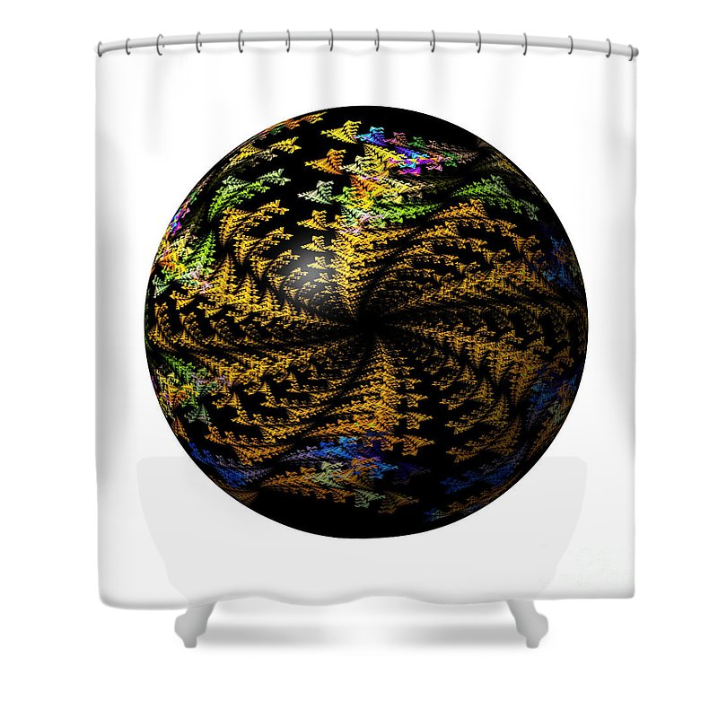 Globe Shower Curtain featuring the digital art Abstract Globe by Henrik Lehnerer
