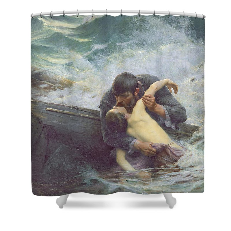 Farewell Shower Curtain featuring the painting Adieu by Alfred Guillou