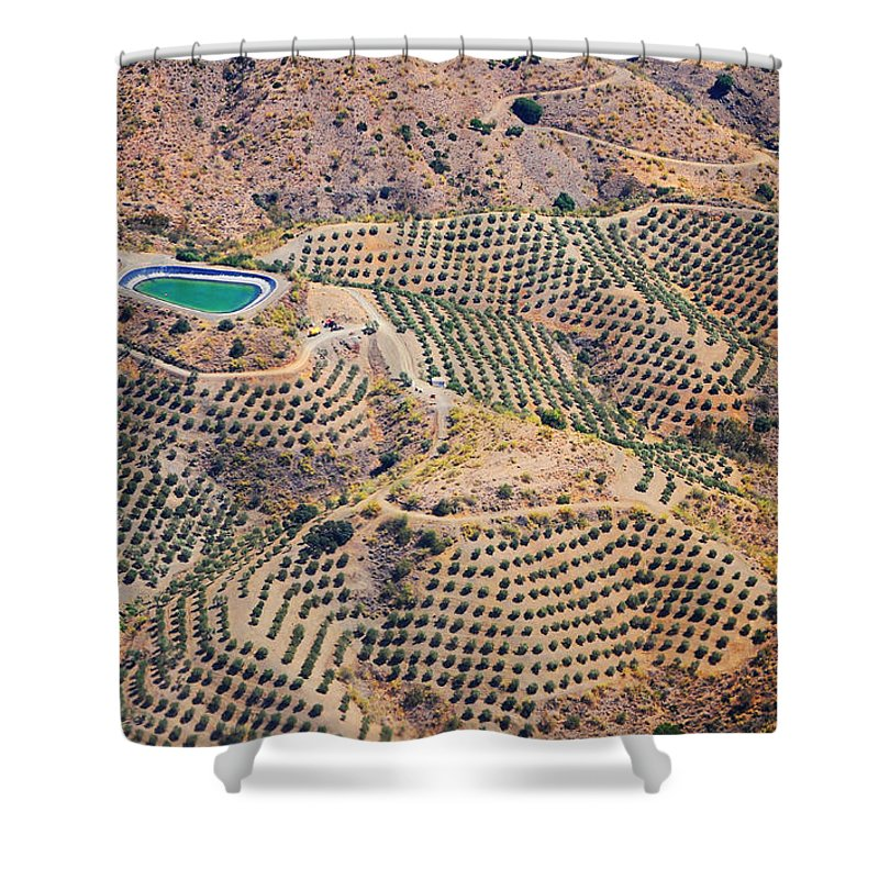 Spain Shower Curtain featuring the photograph Aerial View Of Andalusia. Spain by Jenny Rainbow