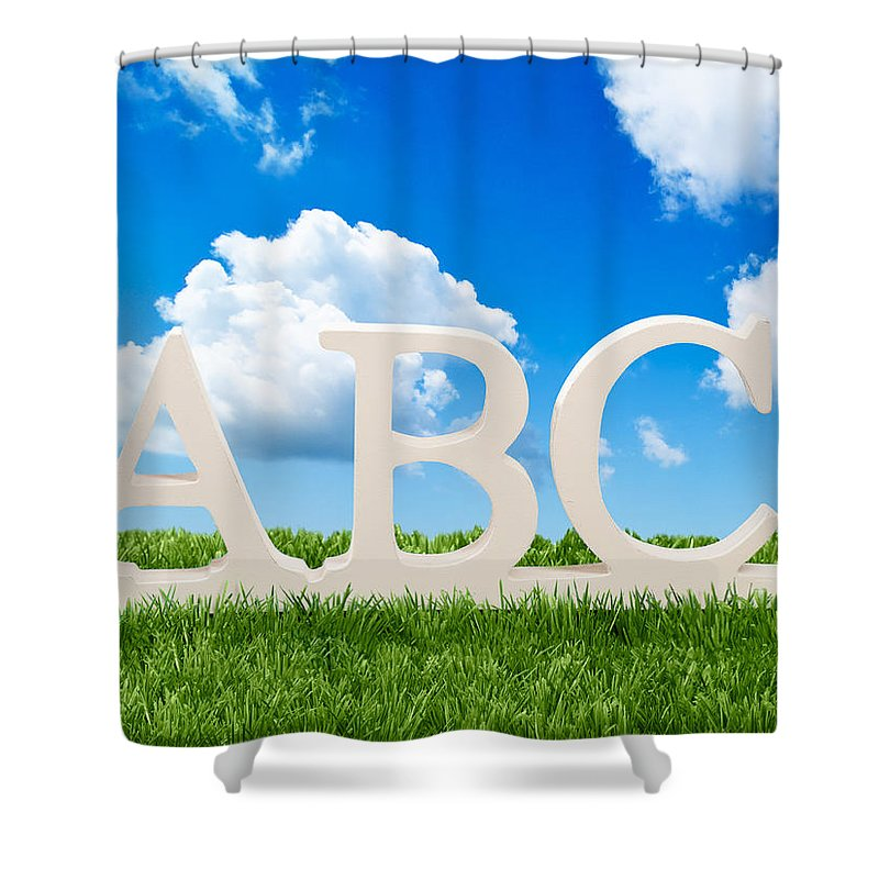 Abc Shower Curtain featuring the photograph Alphabet Letters 1 by Amanda Elwell