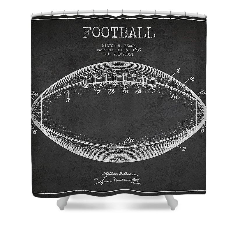 Football Shower Curtain Featuring The Digital Art American Patent Drawing From 1939 By Aged Pixel