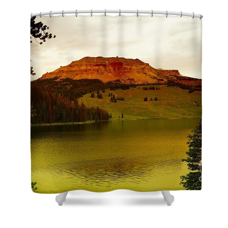 Lakes Shower Curtain featuring the photograph An Alpine Lake by Jeff Swan