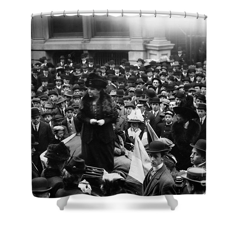 1911 Shower Curtain featuring the photograph Anna Howard Shaw by Granger