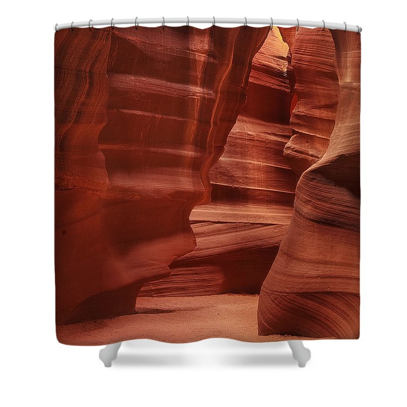 Sand Shower Curtain featuring the photograph Antelope Slot Canyon by Andrew Soundarajan