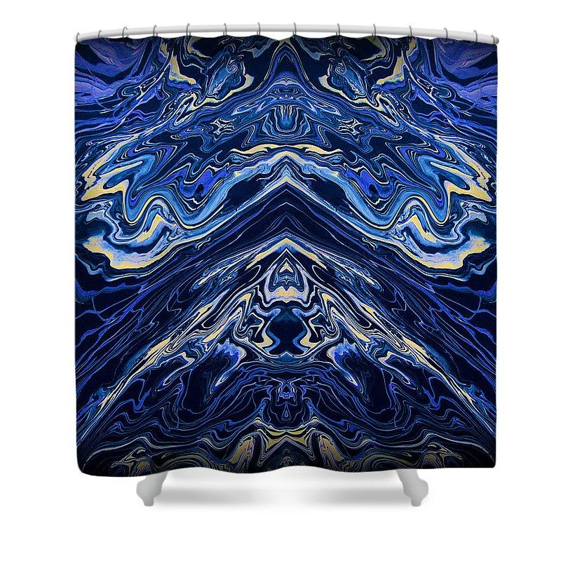 Original Shower Curtain featuring the painting Art Series 1 by J D Owen