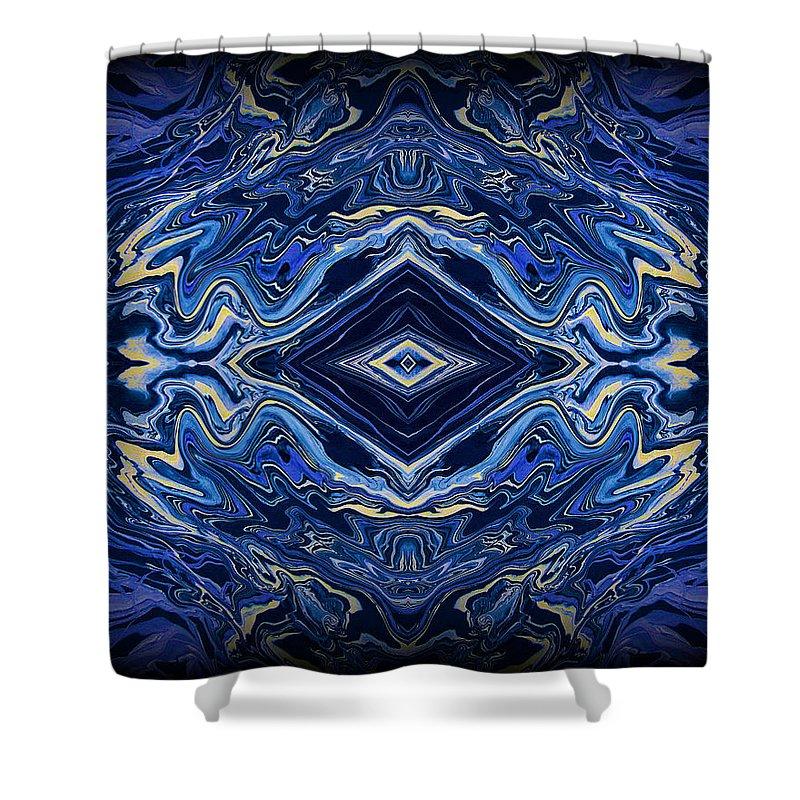 Original Shower Curtain featuring the painting Art Series 3 by J D Owen