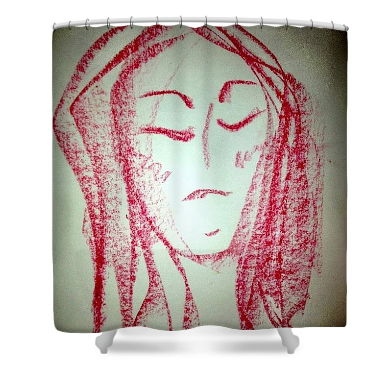 Woman Shower Curtain featuring the photograph Art Therapy 129 by Michele Monk