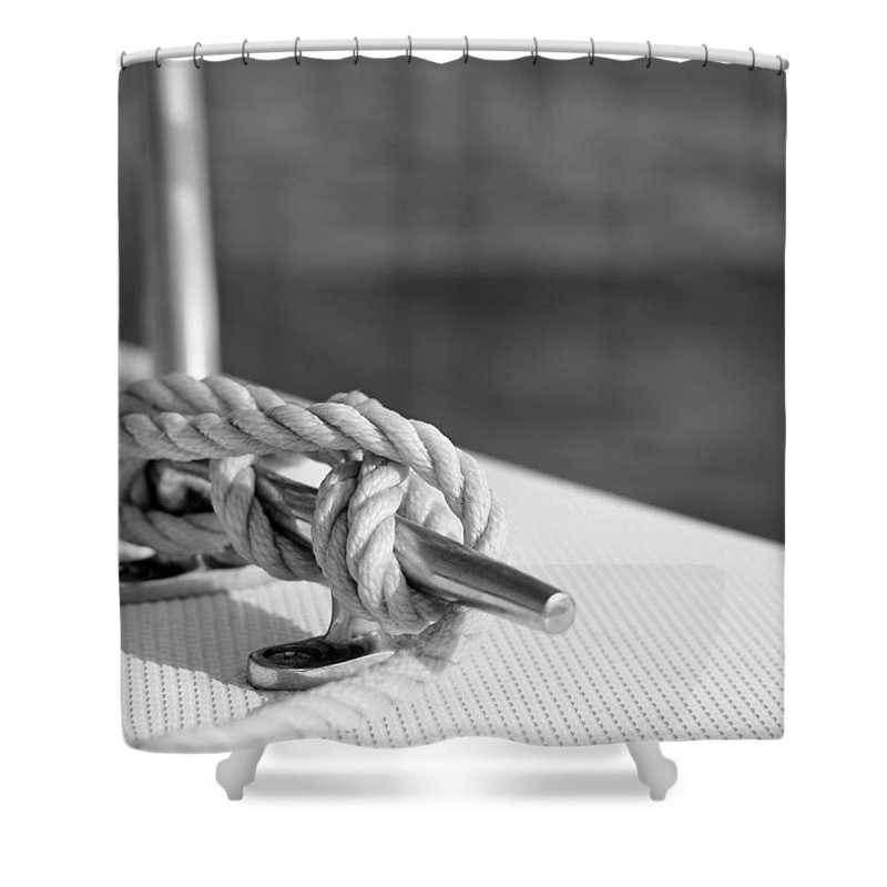 Laura Fasulo Shower Curtain featuring the photograph At Sea by Laura Fasulo