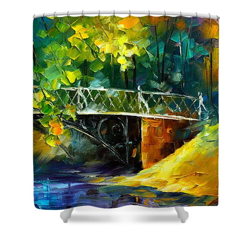 Afremov Shower Curtain featuring the painting Aura Of Autumn 3 by Leonid Afremov