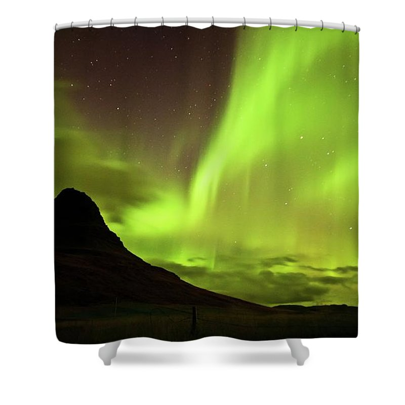Scenics Shower Curtain featuring the photograph Aurora Borealis by Geinis