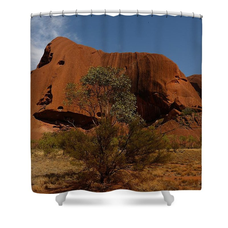 Ayers-rock Shower Curtain featuring the photograph Ayers Rock by FL collection