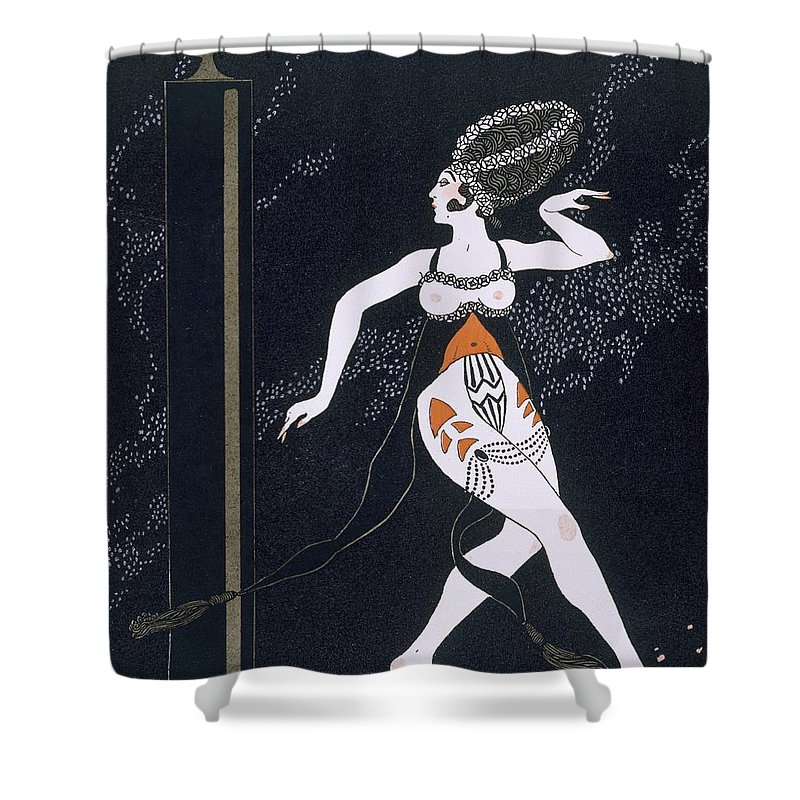 Ballets Russes Shower Curtain featuring the painting Ballet Scene With Tamara Karsavina by Georges Barbier