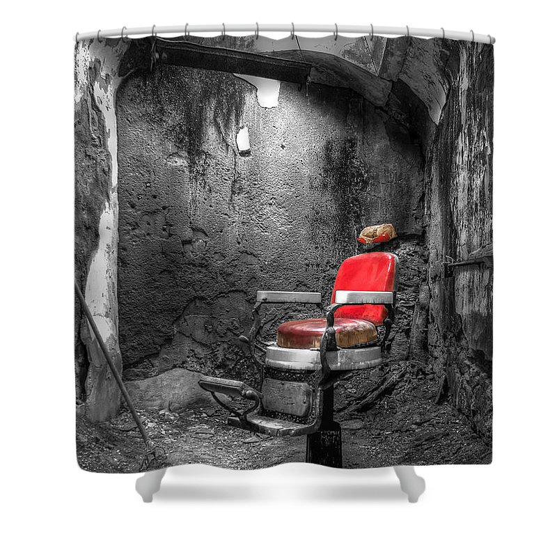 Eastern State Shower Curtain featuring the photograph Barber Chair by Traci Law