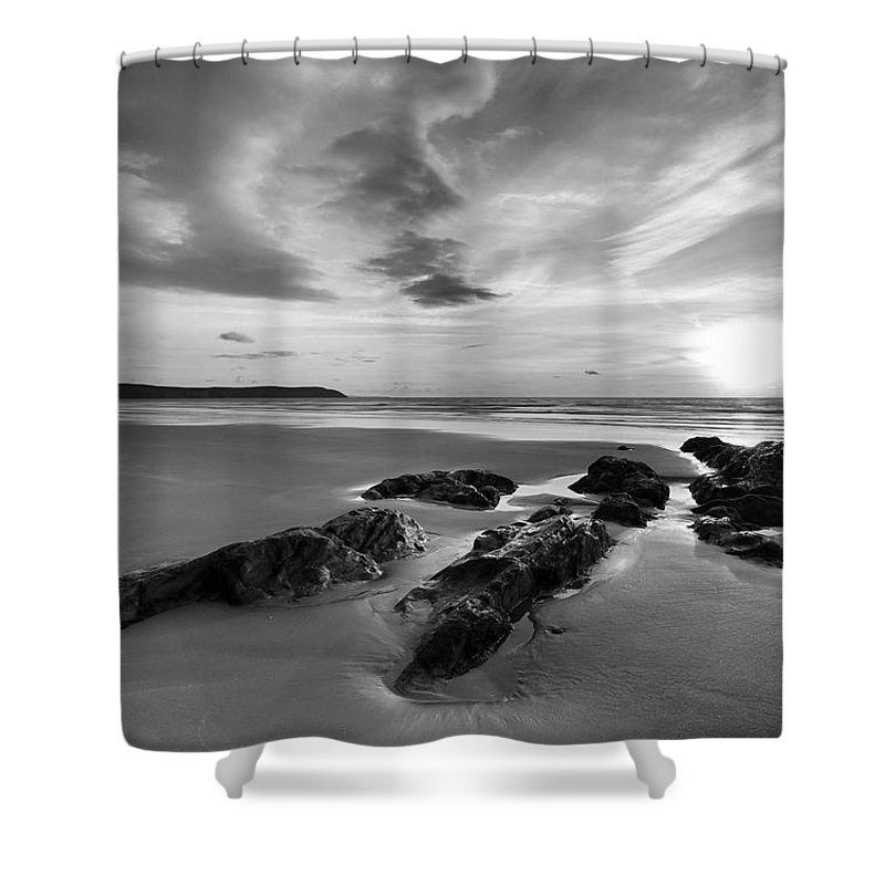 Beach Shower Curtain featuring the photograph Beach 38 by Ingrid Smith-Johnsen