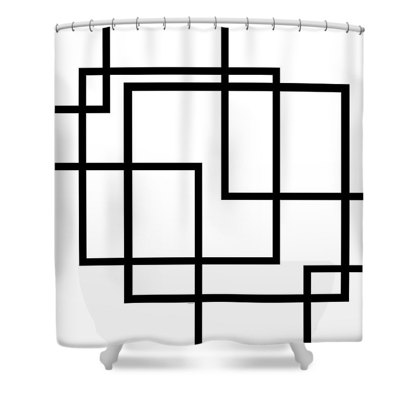 Black And White Shower Curtain featuring the digital art Black And White Art - 137 by Ely Arsha