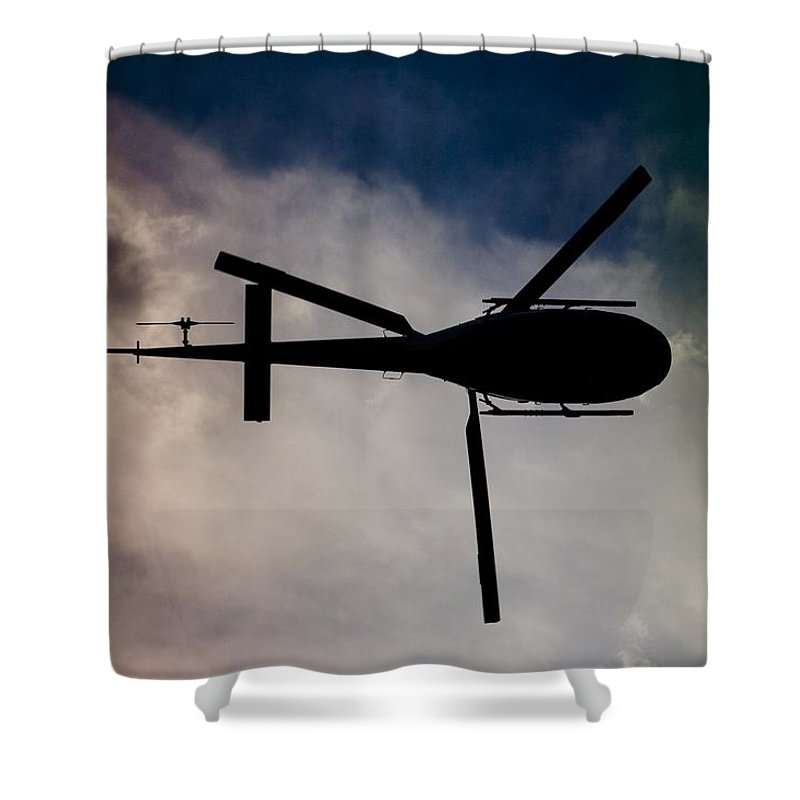 Eurocopter As350 B3 Ecureuil (squirrel) Shower Curtain featuring the photograph Blade Runner by Paul Job