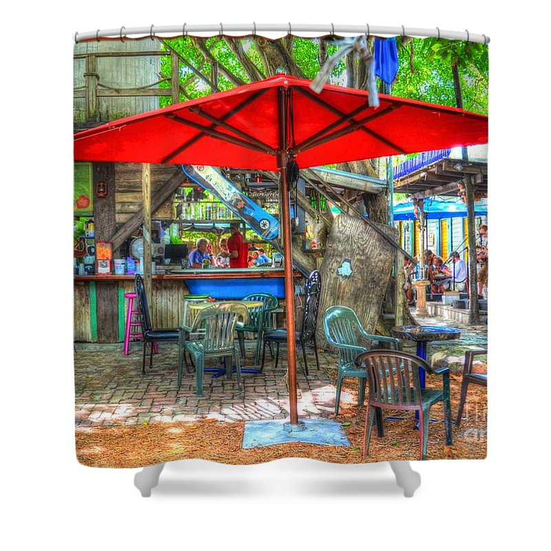 Key West Shower Curtain featuring the photograph Blue Heaven by Debbi Granruth