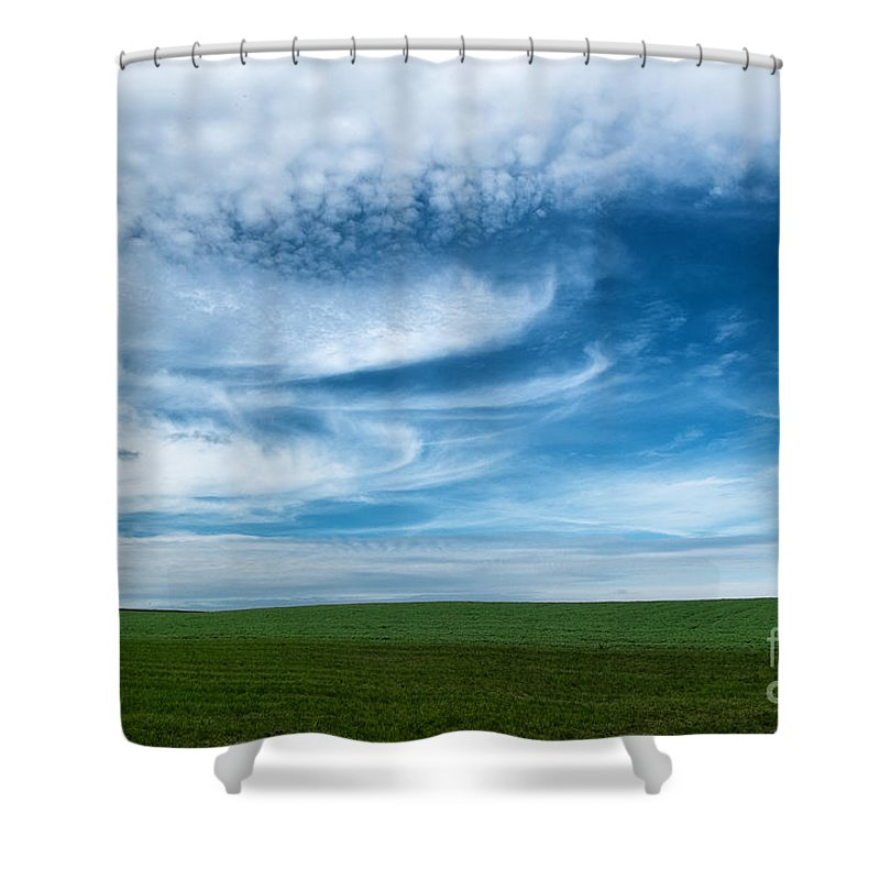 Blue Skies Shower Curtain featuring the photograph Blue Skies by Brothers Beerens