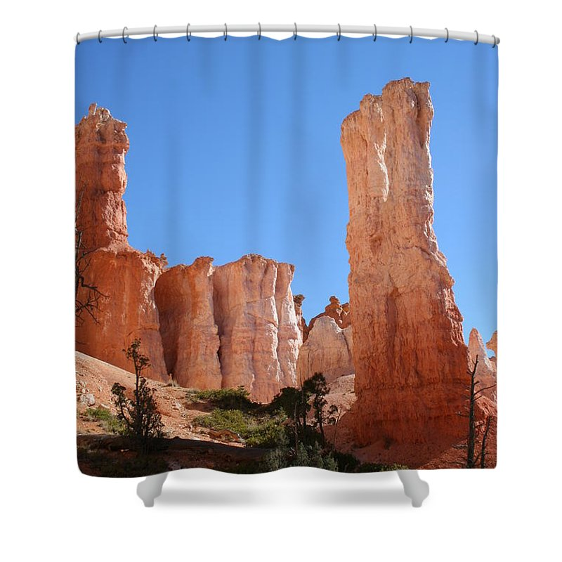 Canyon Shower Curtain featuring the photograph Bryce Canyon Fins by Christiane Schulze Art And Photography