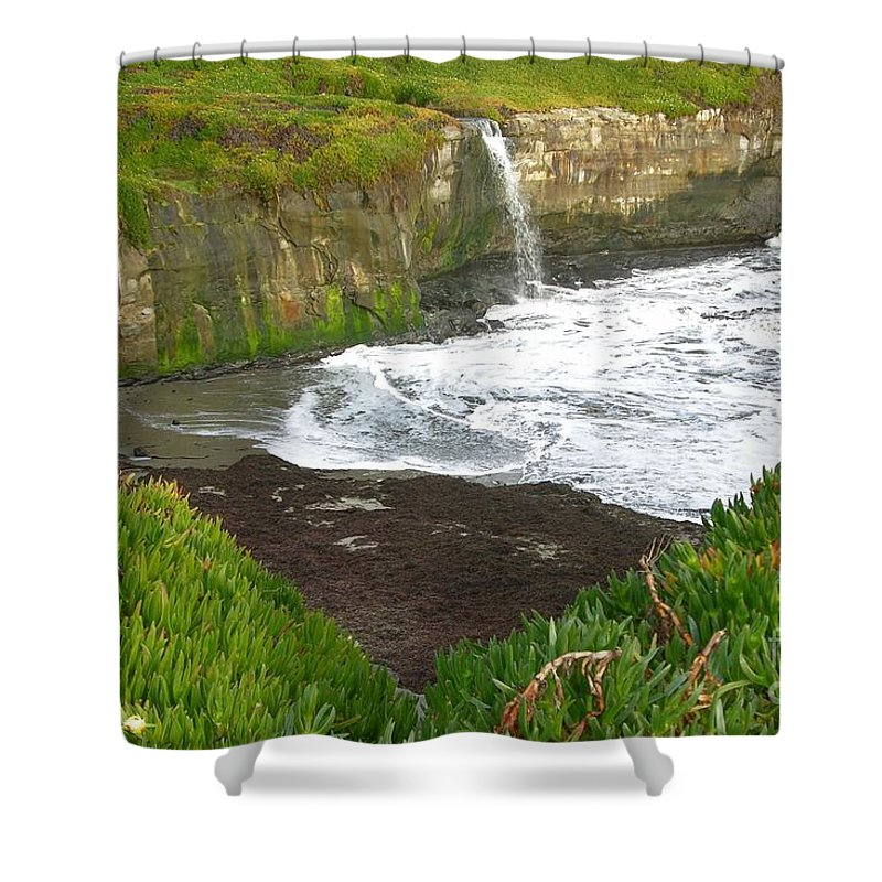 Cove Shower Curtain featuring the photograph California Cove 1 by Carol Groenen