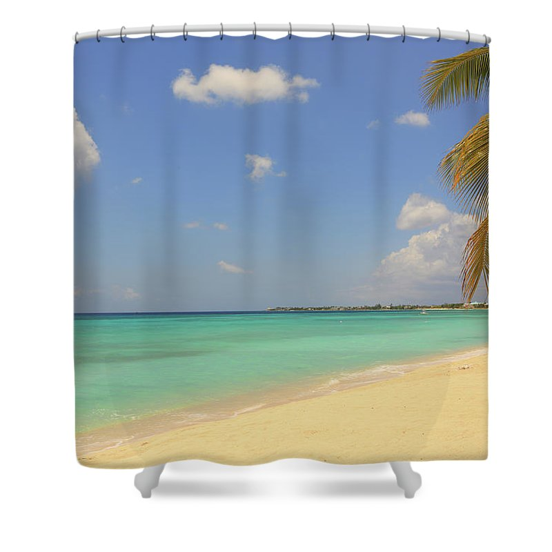 Scenics Shower Curtain featuring the photograph Caribbean Dream Beach by Shunyufan