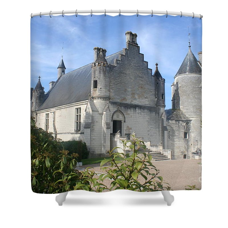 Castle Shower Curtain featuring the photograph Castle Loches - France by Christiane Schulze Art And Photography