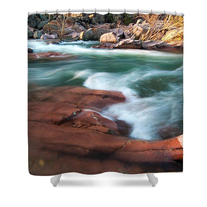 Castor River Shut Ins Shower Curtain featuring the photograph Castor River by Steve Stuller