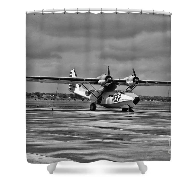 Consolidated Pby Catalina Shower Curtain featuring the photograph Catalina by Tommy Anderson