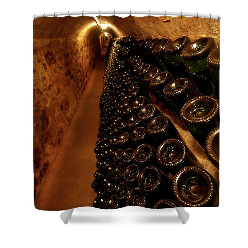 Arch Shower Curtain featuring the photograph Catalonia Wine Region Cellars by Andrea Pistolesi