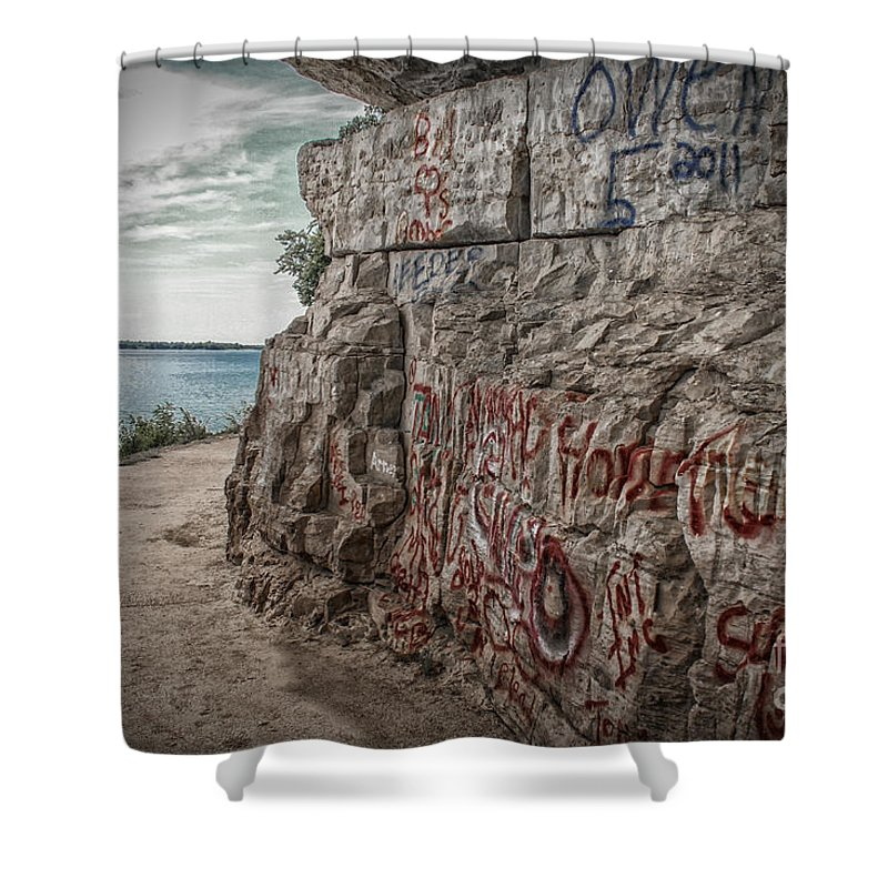Cave In Rock Shower Curtain featuring the photograph Cave In Rock Illinois by Warrena J Barnerd