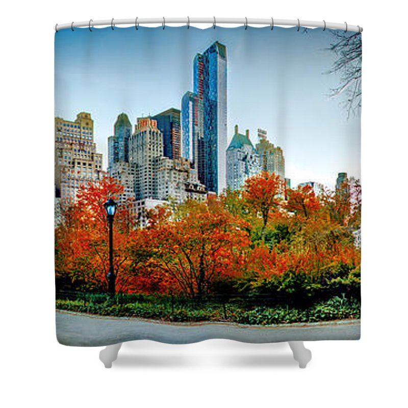 Central Park Shower Curtain featuring the photograph Changing Of The Seasons by Az Jackson