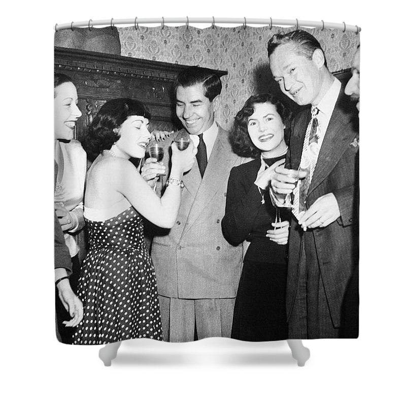 1949 Shower Curtain featuring the photograph Charles Lucky Luciano by Granger