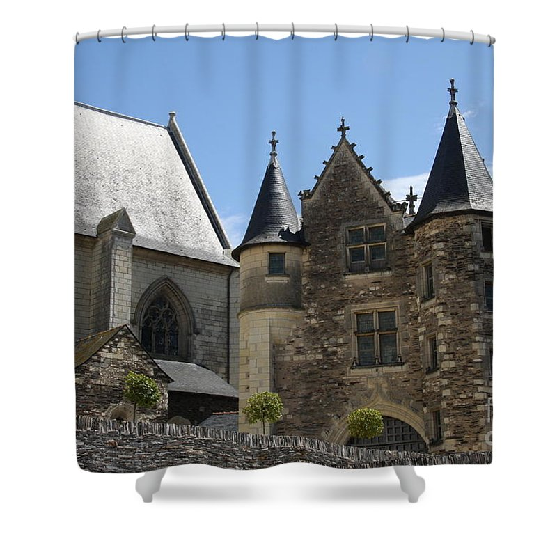 Castle Shower Curtain featuring the photograph Chateau D'angers by Christiane Schulze Art And Photography