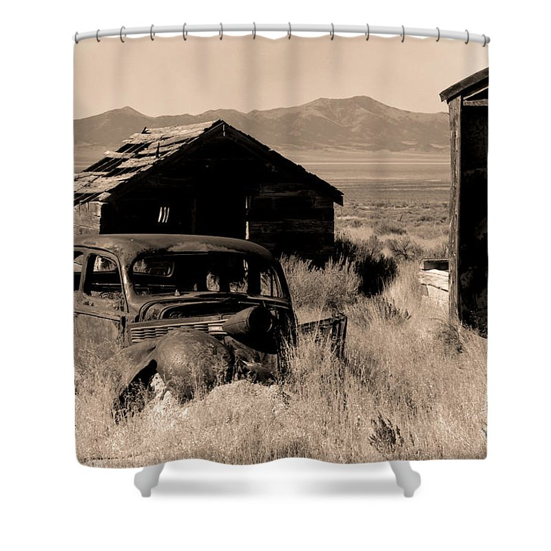 Old Car Shower Curtain featuring the photograph Cherry Creek  Nevada by J L Woody Wooden