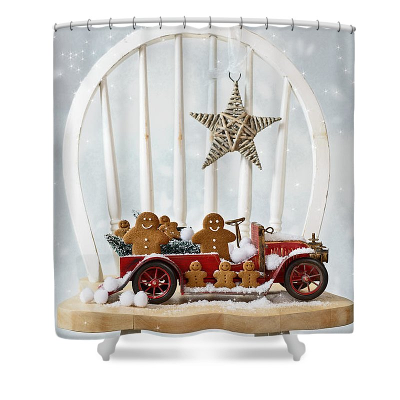 Christmas Gingerbread Shower Curtain For Sale By Amanda Elwell